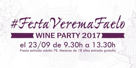 The harvest party #FestaVeremaFaelo will be the 23th of September from 9.30h. to 13.30h.